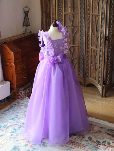 パープルカラーのドレス ベルラインスカート オーダーメイド