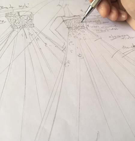 新作デザイン ドレス製作