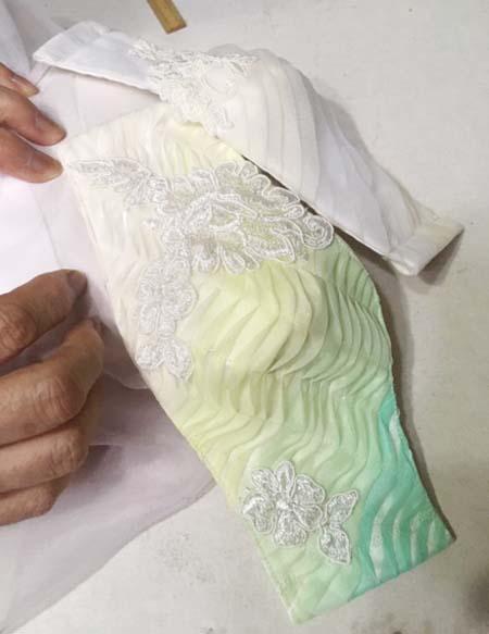 ドレスに合わせたマスク トータルデザイン