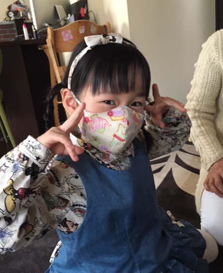 娘用マスク製作