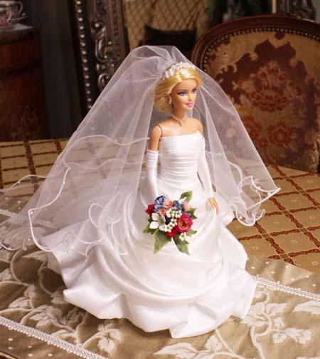 ウェディングドレス バービー人形サイズ