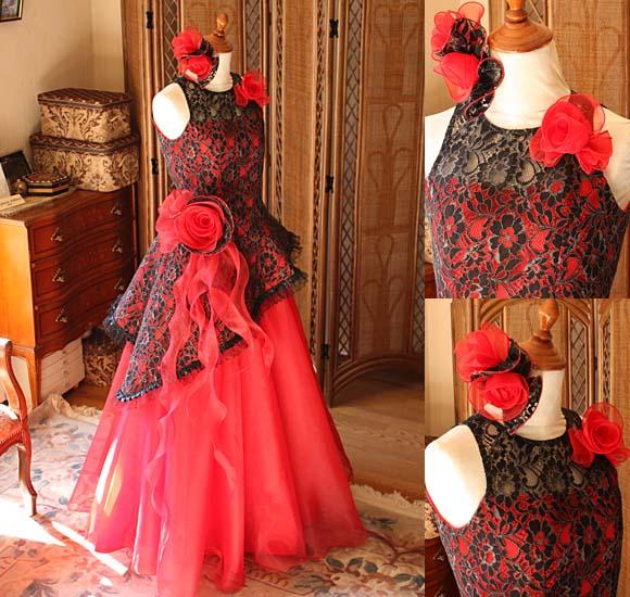 上品で華やかな印象を与えるドレス モードのような素敵さを演出するデザイン