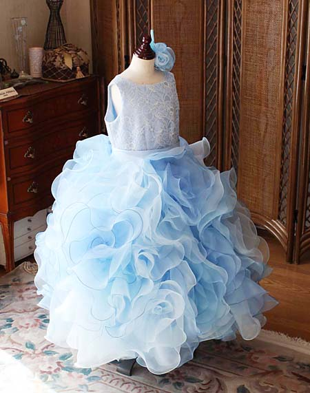 お花のスカート 子供用ドレス デザイン