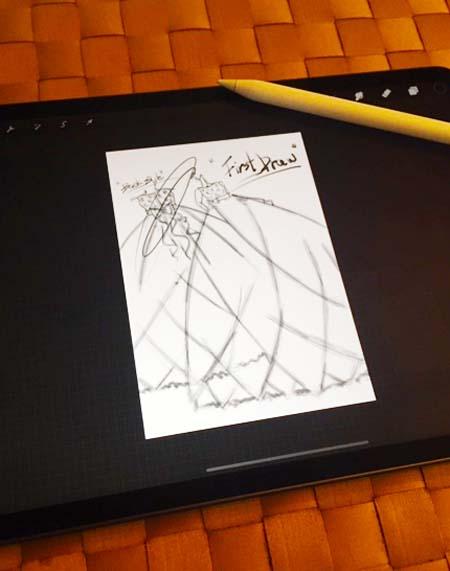 ipadで描くデザイン。まだ慣れない