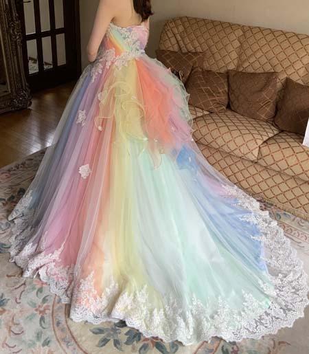 レインボーカラードレス 7色構成