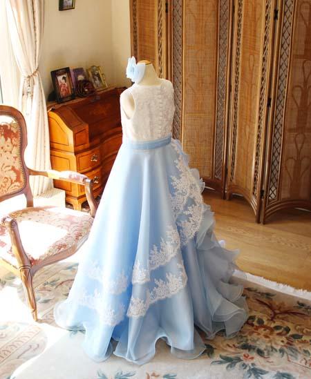2トーンカラーイメージ 高級リバレースが施されたドレス