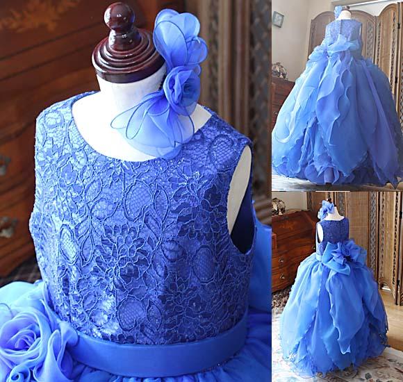 お顔周りを素敵に演出する上半身デザイン ヘッドドレスも同様の構成