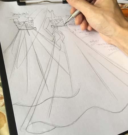 コンサート用ドレス デザイン画
