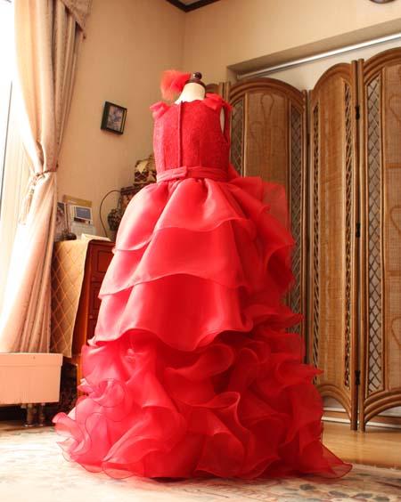 ドレスのスカート丈