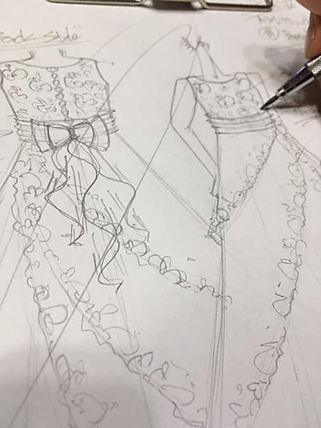 ピアノのコンサートドレス イメージ画