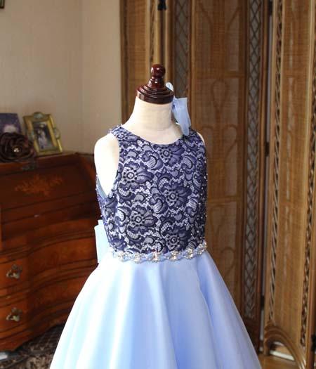 上半身デザイン ジュニアドレス