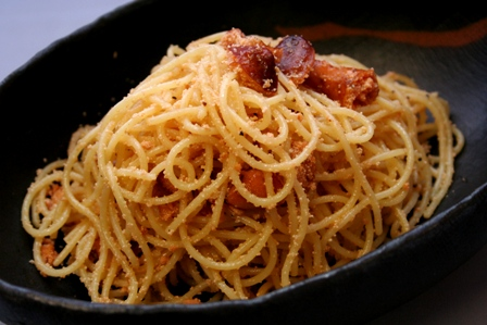 虎杖浜産燻製たらこのスパゲティ