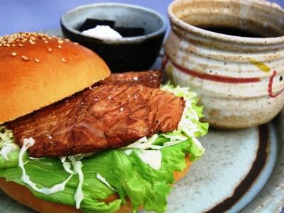 鮭バーガーセット