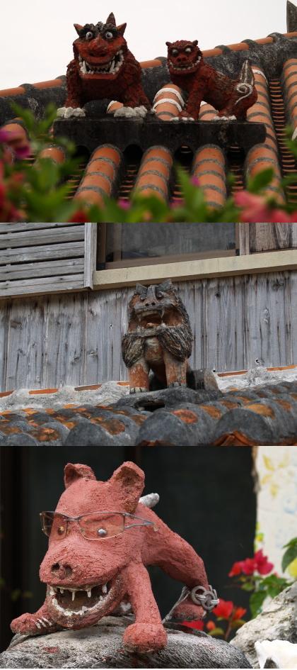 竹富島のシーサー