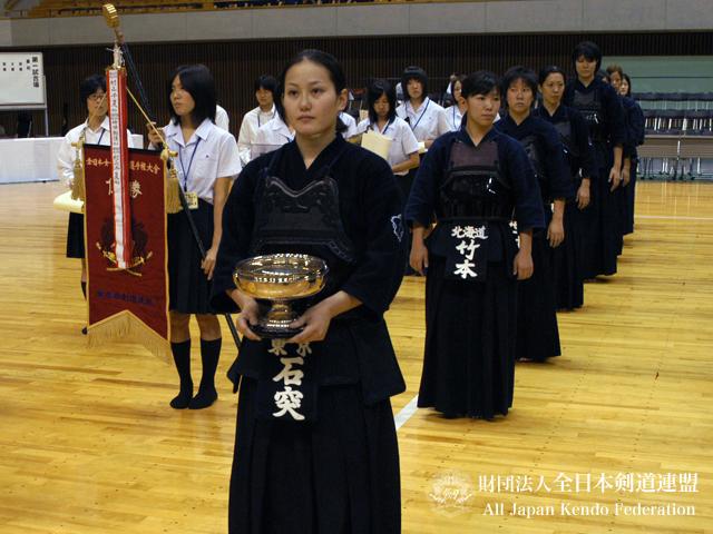 第50回女子選手権_前年度優勝正代選手