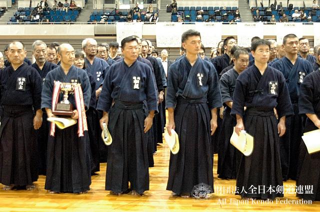 第38回全日本杖道大会 六段 1位・2位