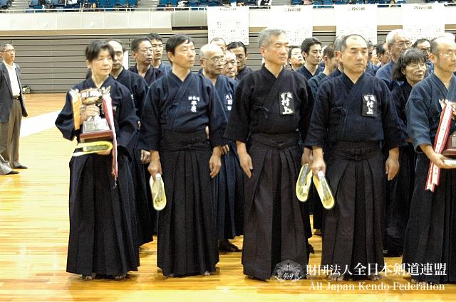 第38回全日本杖道大会 七段 1位・2位