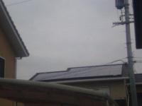 シャープ太陽光発電設置工事終了(屋根工事)