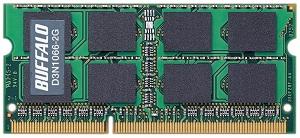 BUFFALO ノート用増設メモリ PC3-8500(DDR3-1066) 2GB D3N1066-2G/E