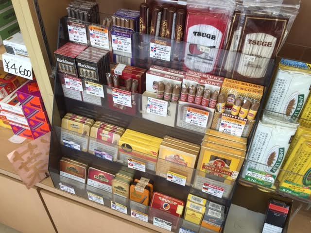 山梨甲府品数が多いタバコ屋自動販売機手巻きタバコ葉巻