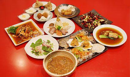 京都市内右京区嵯峨嵐山向日市内で食べられるテレビ雑誌で人気の中華料理店創作料理フルコース料理女子会おすすめ