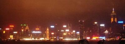 100万ドルの香港の夜景