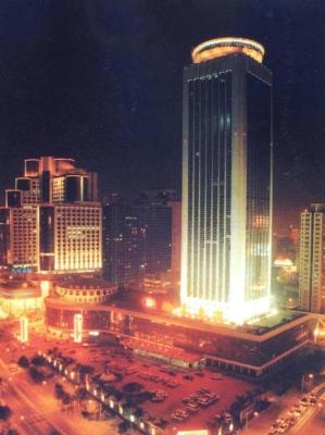 深セン貿易センタービルの夜景