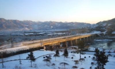 空事鎮の雪景色