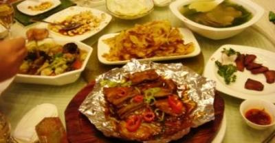 魬魚圏での夕食