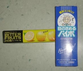 禁煙パイポとカンロのど飴