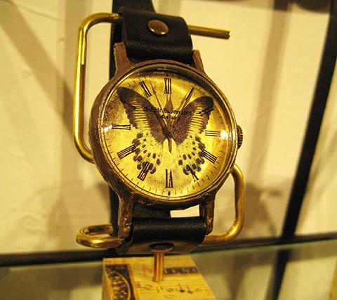 蝶、時計ハンドメイド