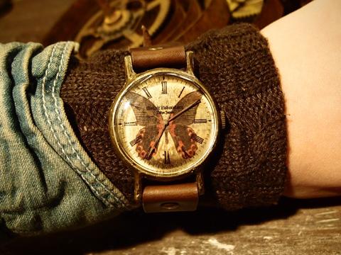 アカネアゲハの腕時計 Classic Wristwatch Papilio rumanzovia L ¥19,666