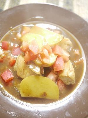 チキン、トマトカレー