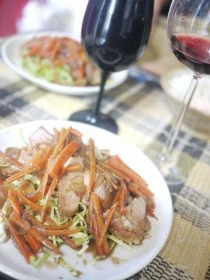 豚肉のロースト 生姜のソース