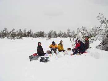 雪原のパーティ