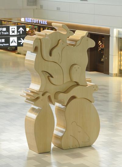 『エゾパズル/ezo puzzle』2010年/新千歳国際空港