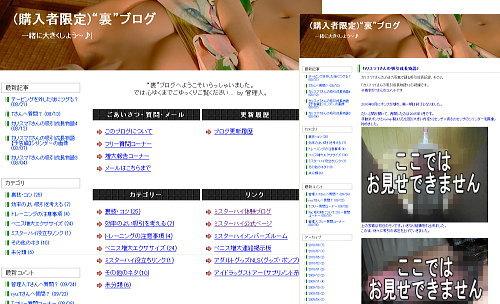 裏ブログスクリーンショット画像