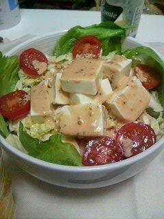 豆腐のテキトーなサラダ