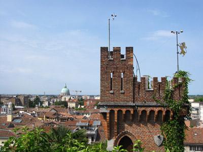 Udine Castelloからの眺め