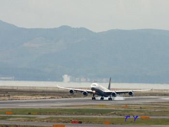 関西国際空港 着陸