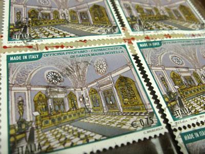 イタリアの切手〜サンタ・マリア・ノヴェッラ薬局