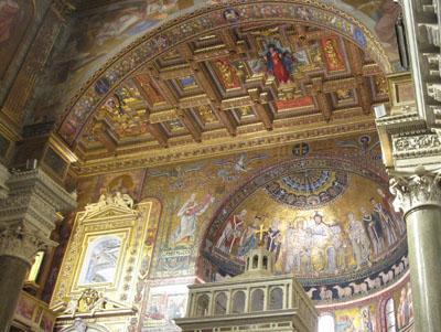 ローマ サンタ・マリア・イン・トラステヴェレ教会の後陣