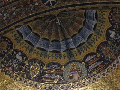 ローマ サンタ・マリア・イン・トラステヴェレ教会の後陣モザイク