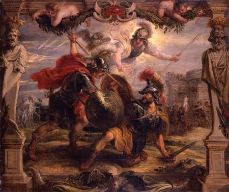ルーベンス『ヘクトルを打ち倒すアキレス』