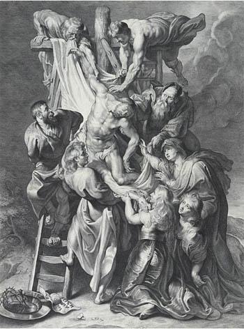ルーベンス版画『キリスト降架』