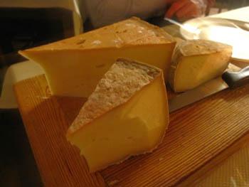 アオスタのアグリツーリズモのチーズ
