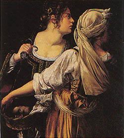 アルテミジア・ジェンティレスキ『ユディト』ピッティ宮殿パラティーナ絵画館