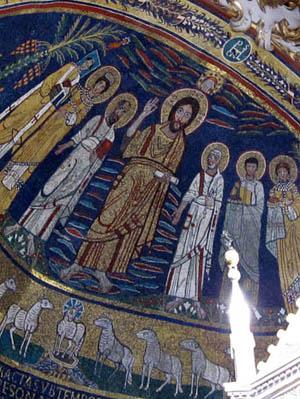 サンタ・チェチリア・イン・トラステヴェレ教会 モザイク画