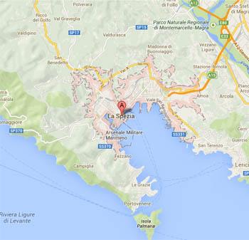 ラ・スペツィアの地図
