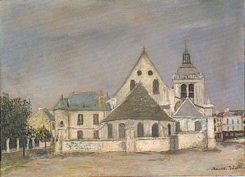 モーリス・ユトリロ『ポントワーズのノートル・ダム教会』